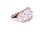 18K Rose Gold with Antique Cut Rose Quartzubble Ring