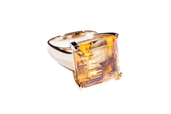18K Yellow Gold Citrine