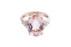 18K Rose Gold Morganite with Diamonds