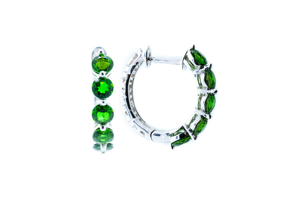 Green Chrome Diopside Half Hoop
