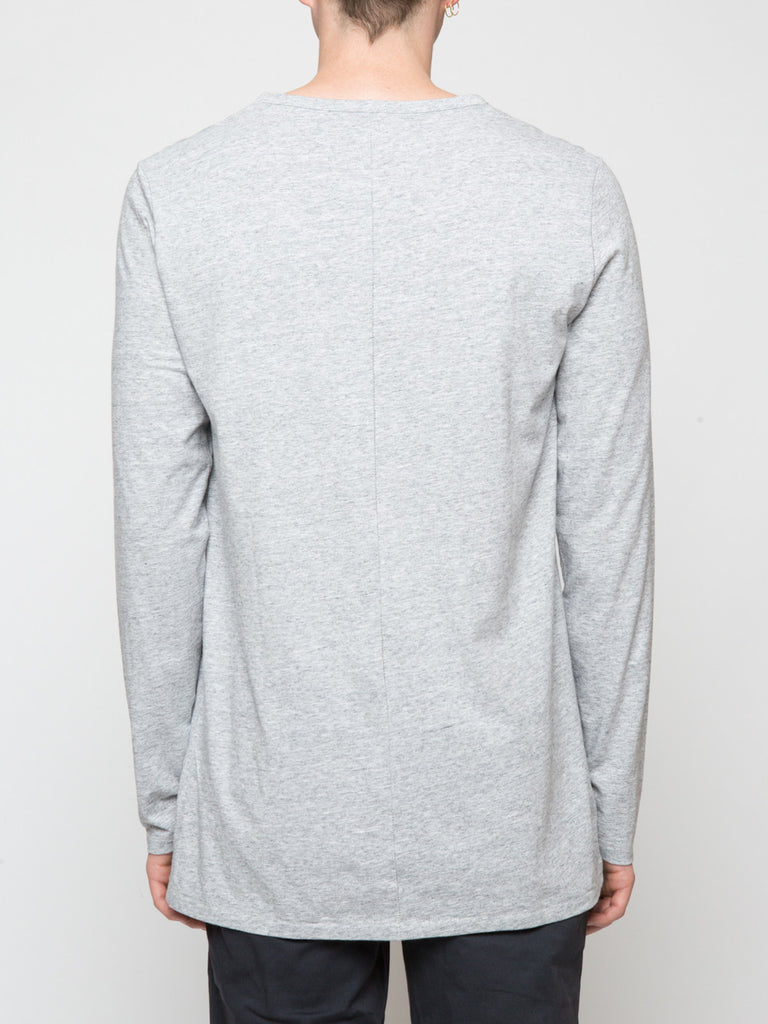 Commoners Classic Long Sleeve Tee Shirt Grey Back