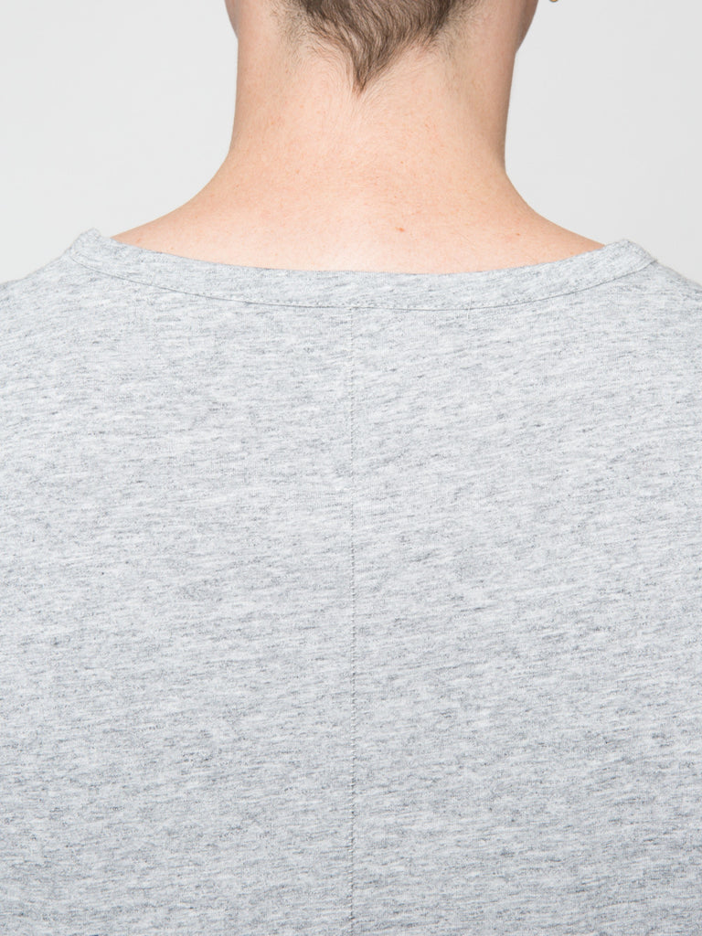 Commoners Classic Long Sleeve Tee Shirt Grey Back Detail