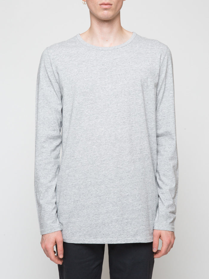Commoners Classic Long Sleeve Tee Shirt Grey Front