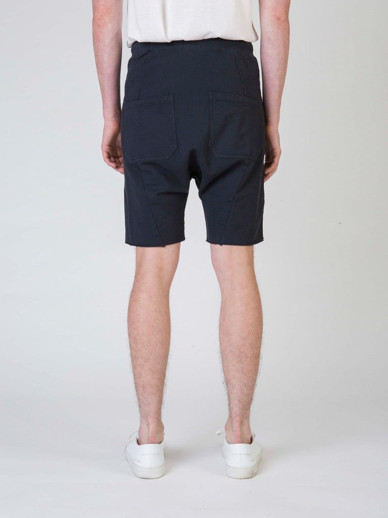 Commoners Fleece Mens Shorts Charcoal Back