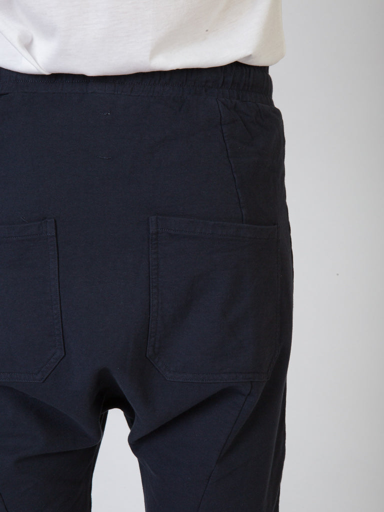 Commoners Fleece Mens Shorts Charcoal Back Detail