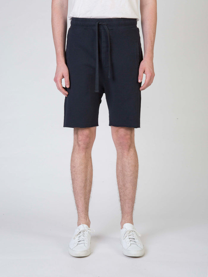 Commoners Fleece Mens Shorts Charcoal Front