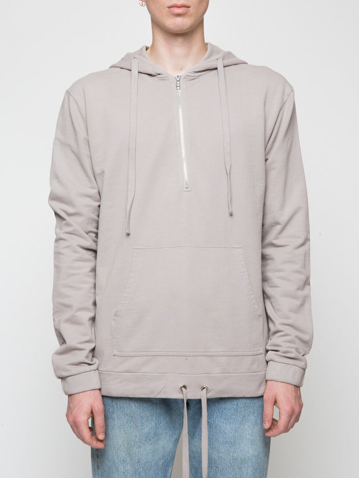 Commoners Half Zip Beige Pull Over Hoodie Jumper Front