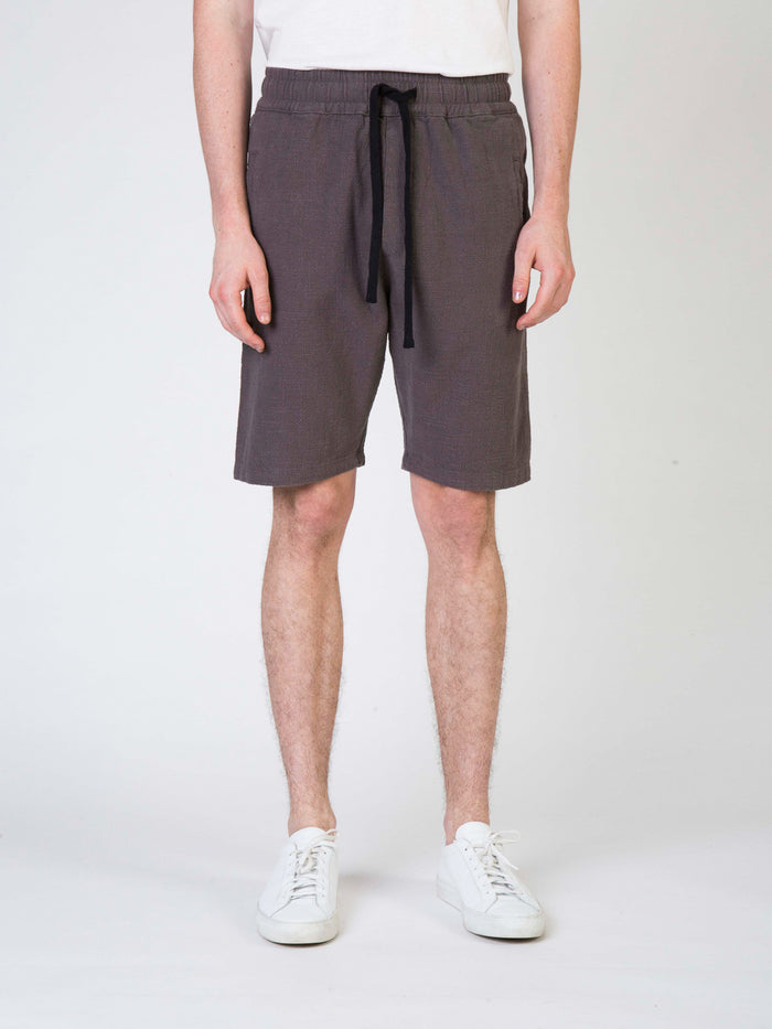 Commoners Linen Walk Mens Shorts Grey Front