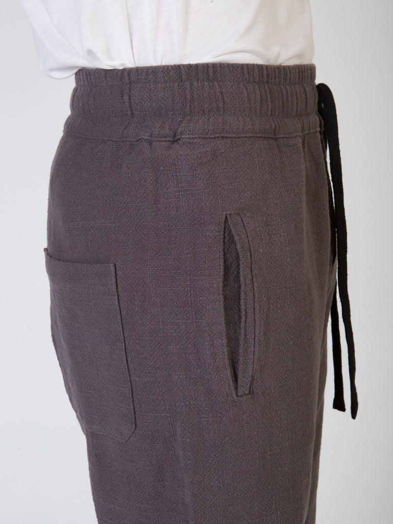 Commoners Linen Walk Mens Shorts Grey Side Detail
