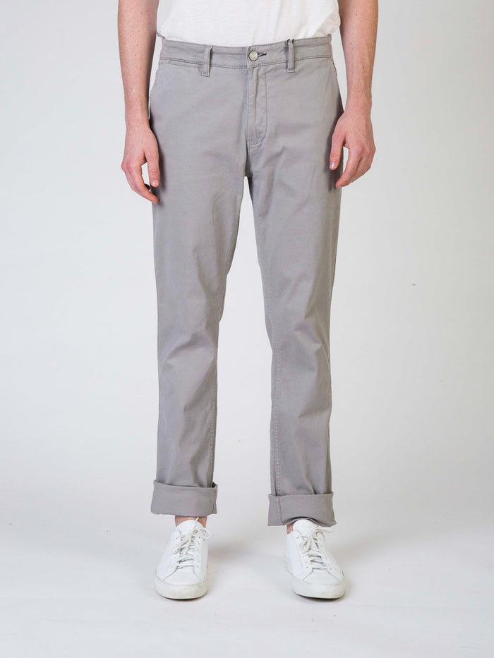 NN07 Marco Stretch Chino Mens Pants Grey Front