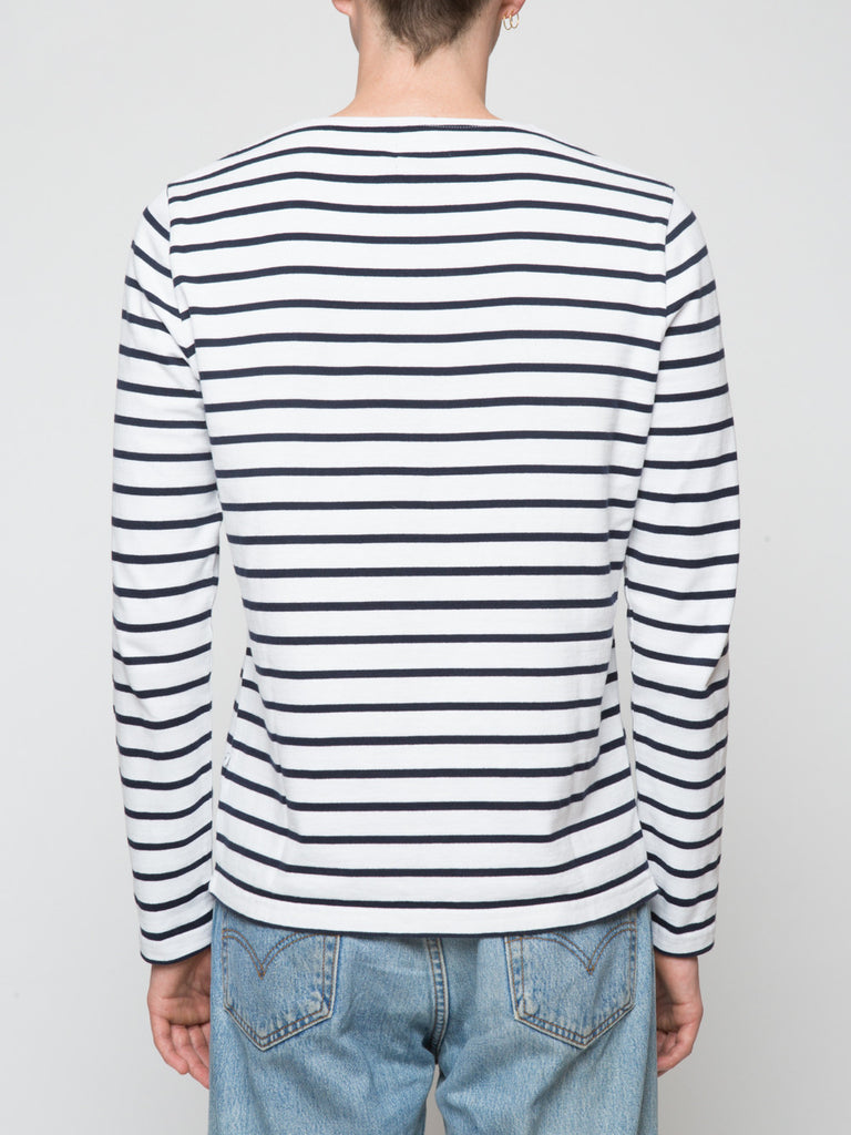 NN07 Melvin Long Sleeve Stripe Mens Tee Shirt Back