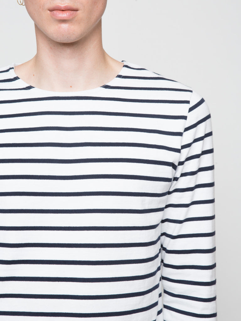 NN07 Melvin Long Sleeve Stripe Mens Tee Shirt Front Detail