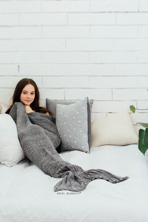 gray mermaid blanket