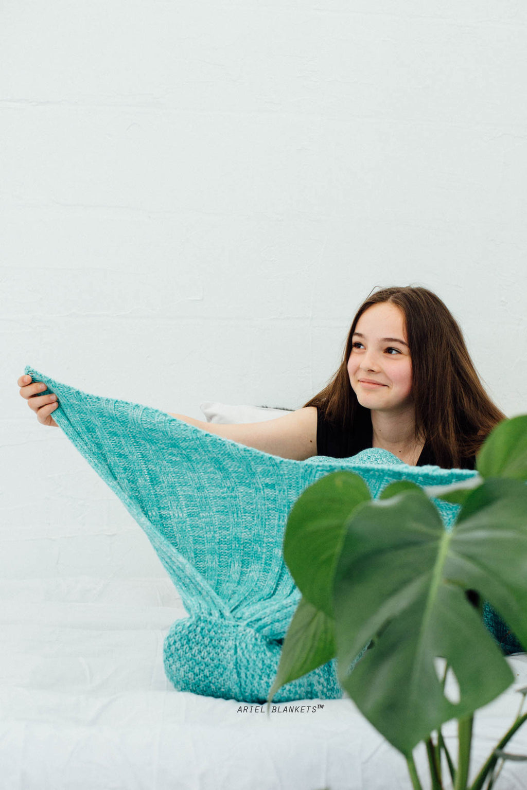 aqua blue mermaid blanket