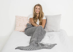 Mermaid Blanket (Ash Gray)
