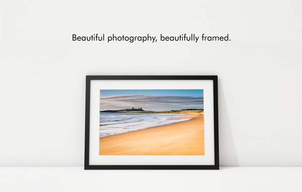 Beautiful photography, beautifully framed.
