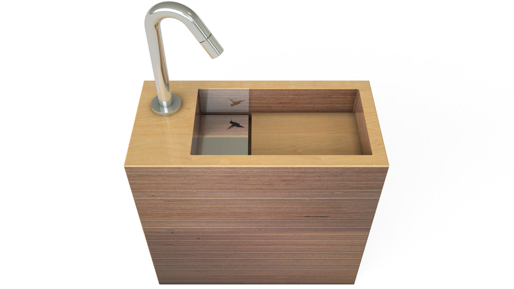 Modern collection - Handcrafted wooden sink - Small serie