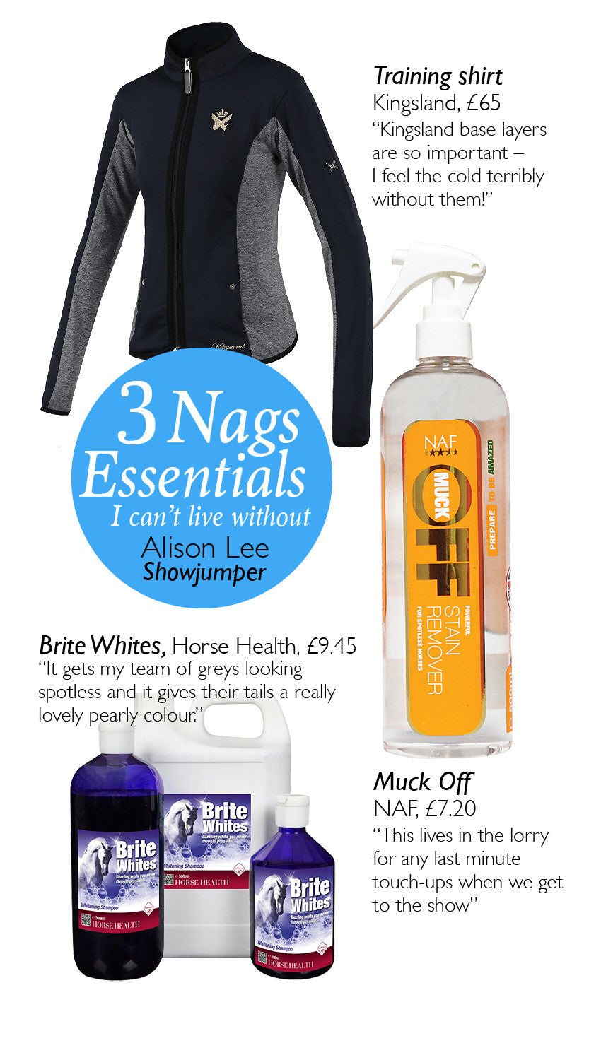 3 Nags Essentials: Alison Lee, showjumper