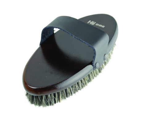 Hyshine Deluxe Body Brush Horse Hair & Pig Bristles