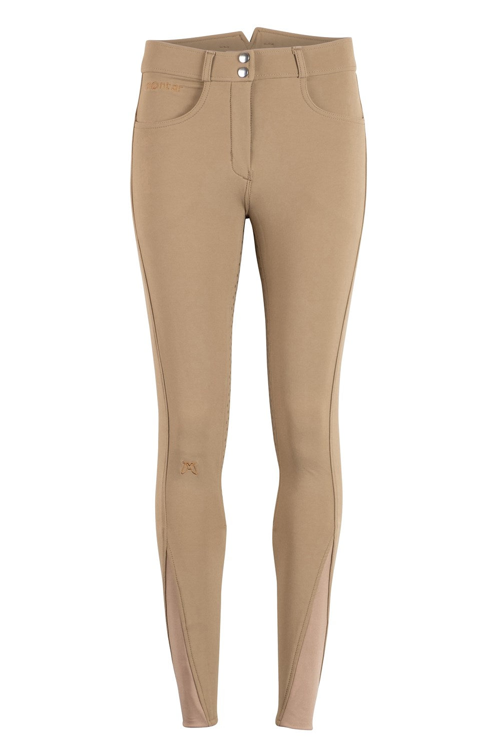 Montar Essential High Waisted Breeches Beige Full Seat