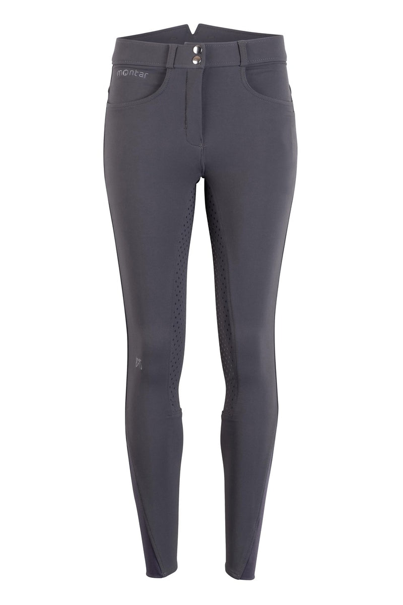 Montar Essential High Waisted Breeches Grey Full Seat