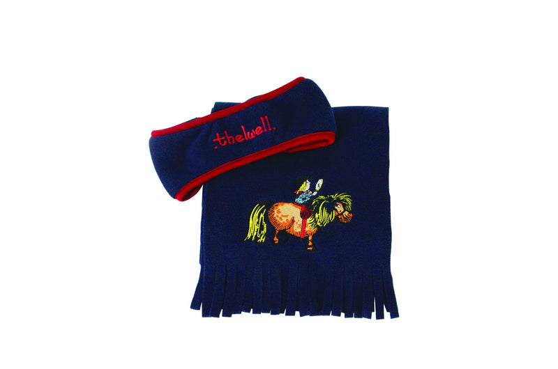 Hy Equestrian Thelwell Collection Fleece Headband and Scarf Set