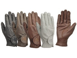 Hy5 Childrens Leather Riding Gloves