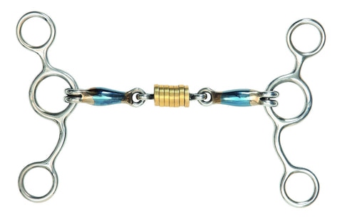 Blue Sweet Iron Tom Thumb Bit with Roller Link