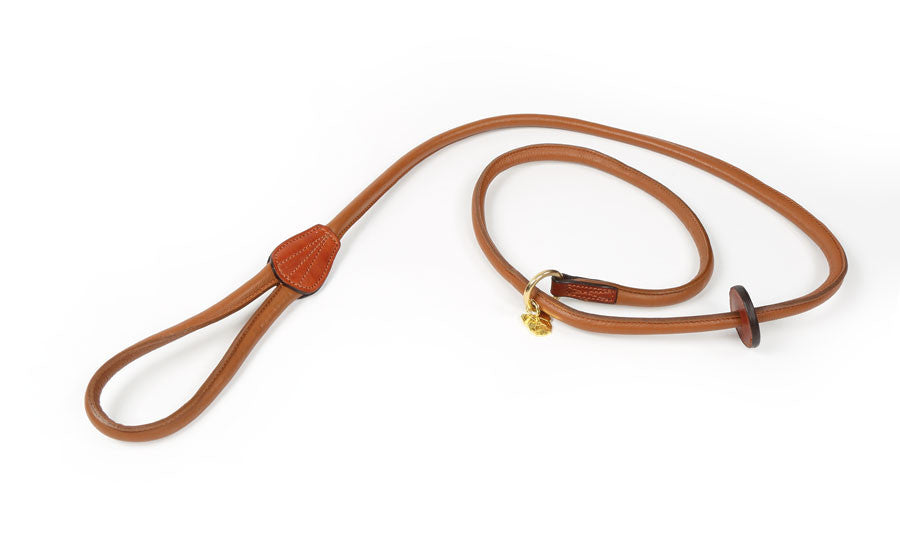 Digby & Fox Rolled Leather Slip Dog Lead