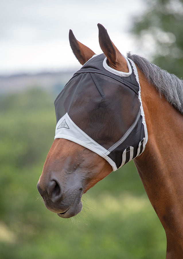 Shires Fine Mesh Fly Mask With Earholes
