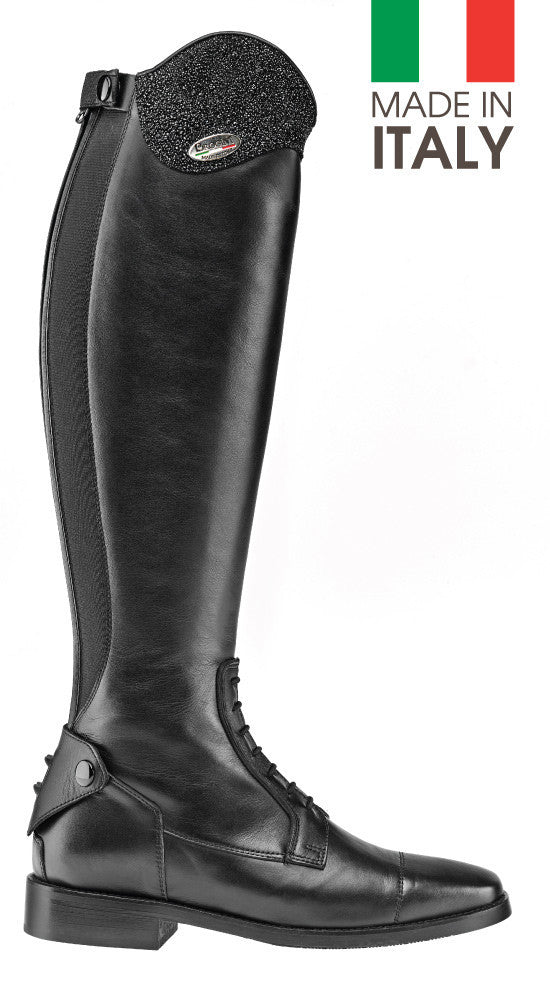 Brogini Arezzo Long Boot With Micro-Crystal Top