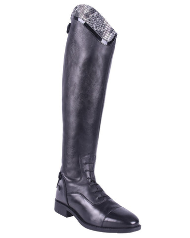 Birgit Snakeskin Long Riding Boots