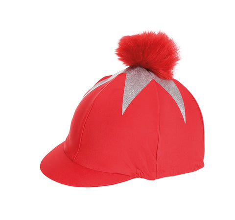 Pom Pom Hat Cover With Big Star