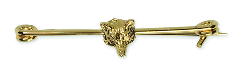Shires Plated Stock Pin - Gold Fox