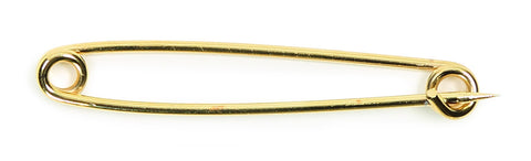 Shires Gold Plated Stock Pin - Plain