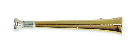 Shires Plated Stock Pin - Gold Hunting Horn