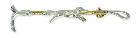 Shires Plated Stock Pin - Gold Crop with Fox