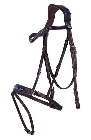 Navy/Brown Leather Bridle