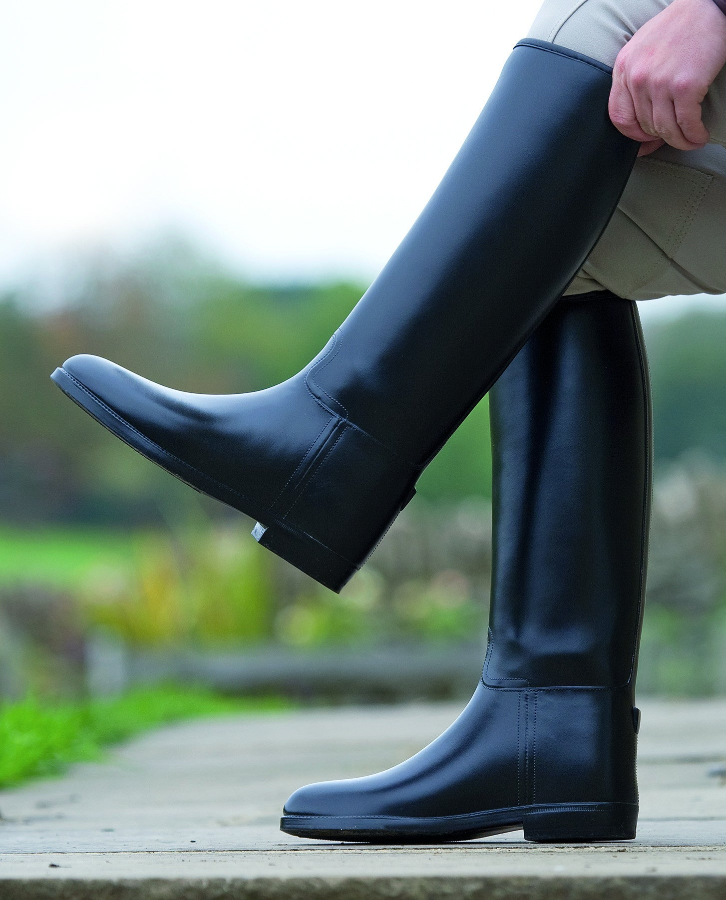 Shires Long Rubber Riding Boots-Children's