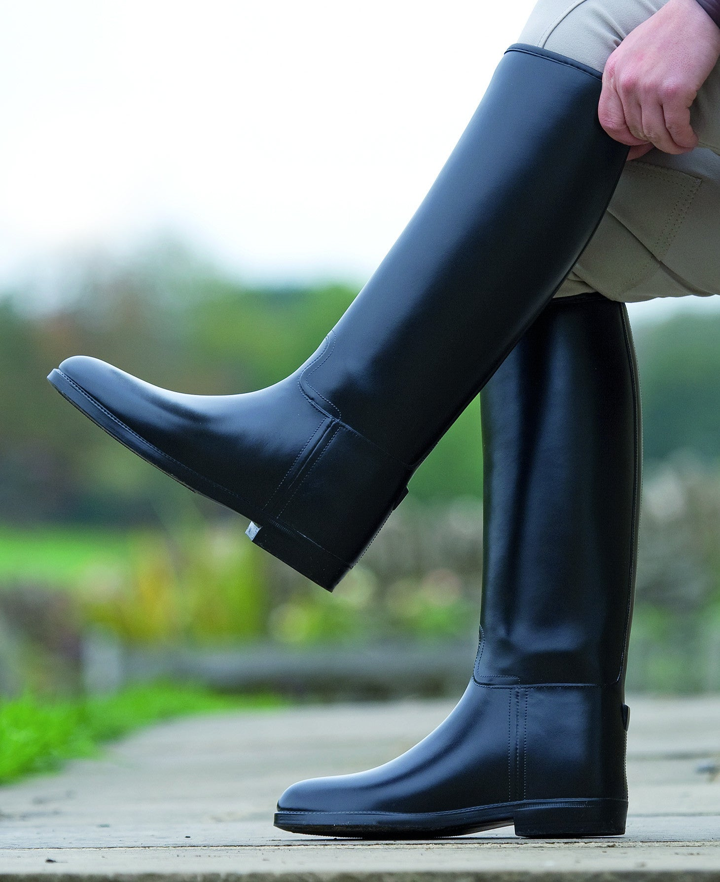 Shires Long Rubber Riding Boots-Ladies