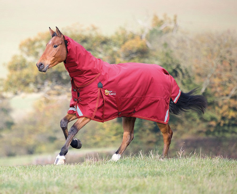 Shires StormCheeta 200g Combo Turnout Rug - Red