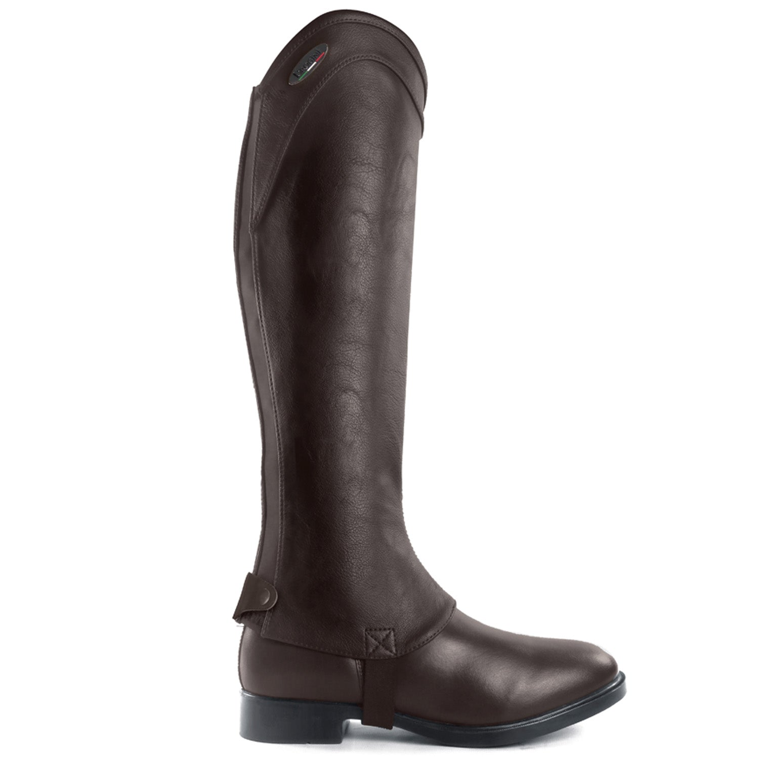 Marconia Synthetic Leather Gaiter Brown