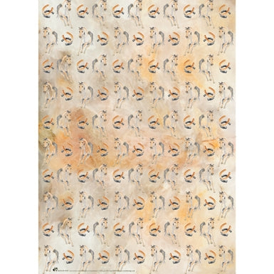 Deckled Edge Horse Shoe Gift Wrap (2 Sheets)