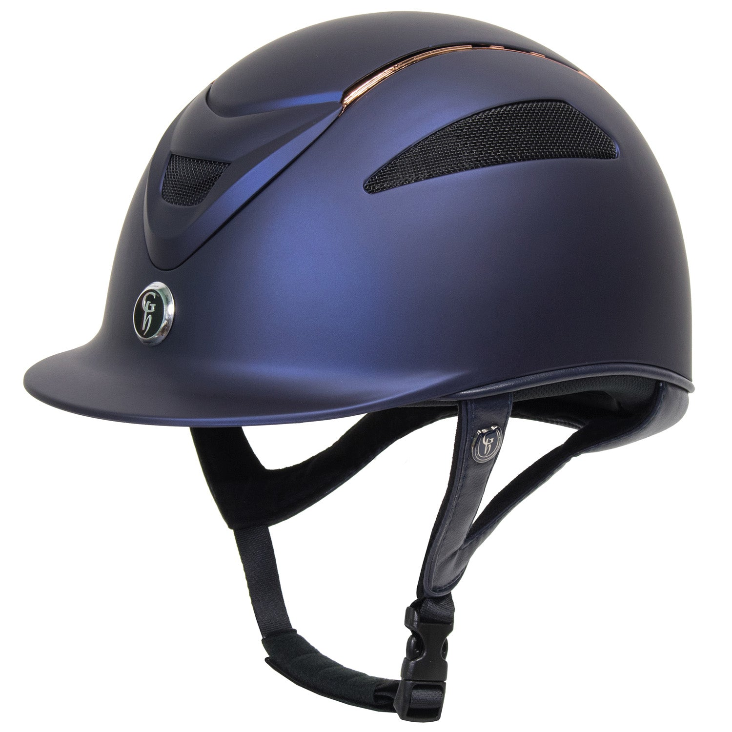 Gatehouse Conquest MKII Riding Hat Rose Gold Navy
