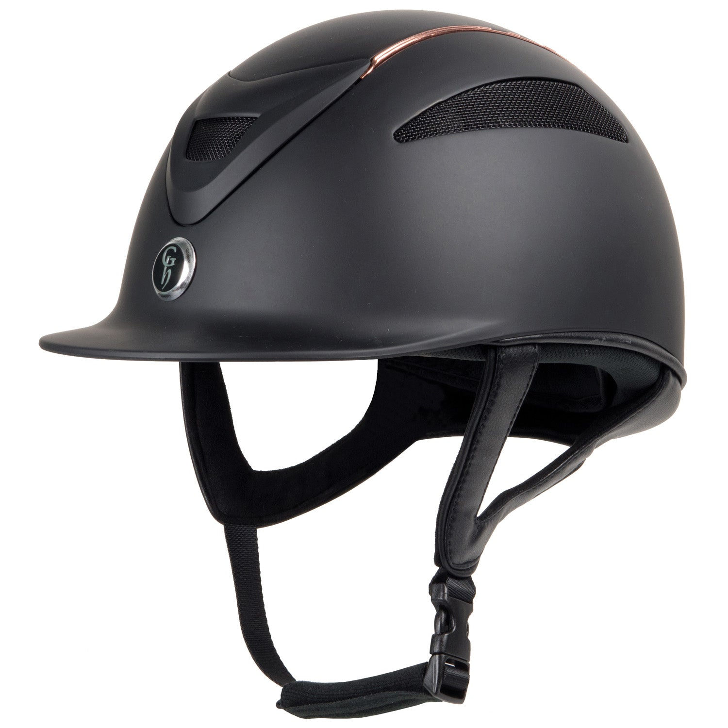 Gatehouse Conquest MKII Riding Hat Rose Gold Black