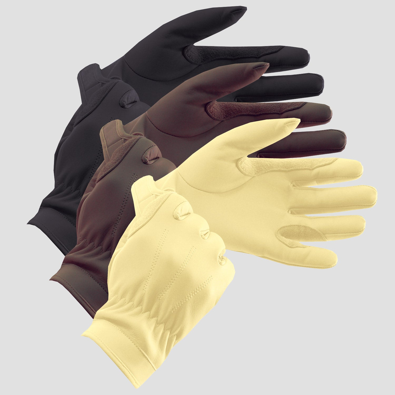 Equetech Leather Show Gloves