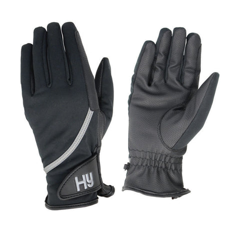 Hy Hy5 Adults Leather Thinsulate Winter Riding Gloves Black//Dark Brown XS-XL