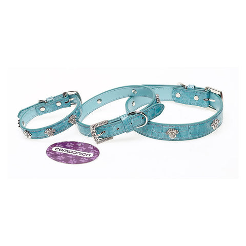 Companion Diamante Paw Print Dog Collar