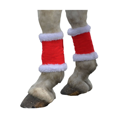 Hy Christmas Santa Horse Leg Wraps (Set of 4)