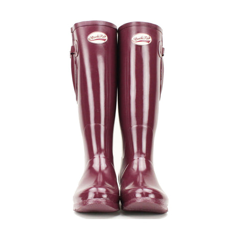 Rockfish Women's Tall Adjustable Gloss Wellington